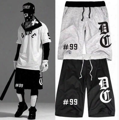 8 Colors Hiphop Shorts For Men And Women In Europe And America 99 Hiphop Baseball Shorts 4xl Shorts Men Cotton Whalesale