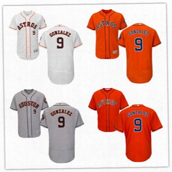 #9 Marwin Gonzalez Jersey 2017 Houston Astros Jersey Men Marwin Gonzalez Flexbase Cool Base All Stitched Embroidery Baseball Jersey
