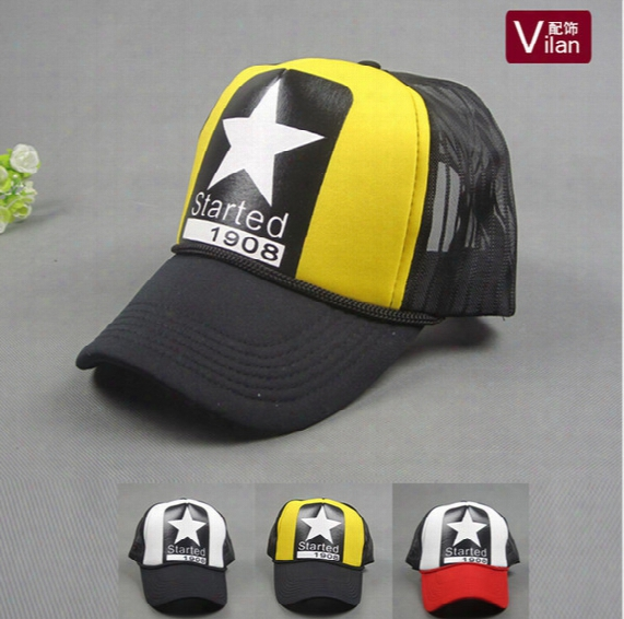 A Big Star In The Hat! Simple Cool Nice Caps Hat Baseball Snapcap Snapback Men Women Hiphop Sport Hats Gorras Cap Hat