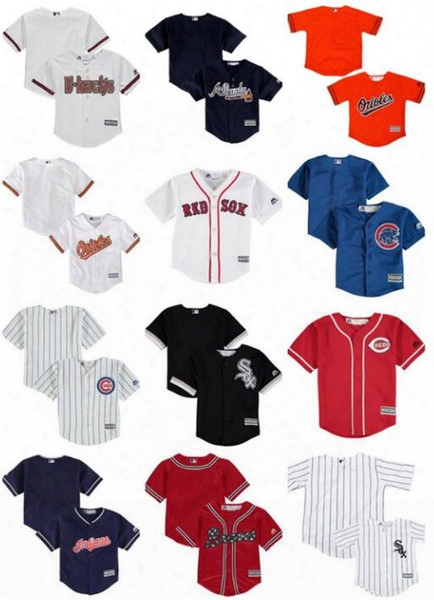 Atlanta Braves Baltimore Orioles Boston Red Sox Chicago Cubs White Sox Cincinnati Reds Cleveland Indians Toddler Custom Baseball Jerseys