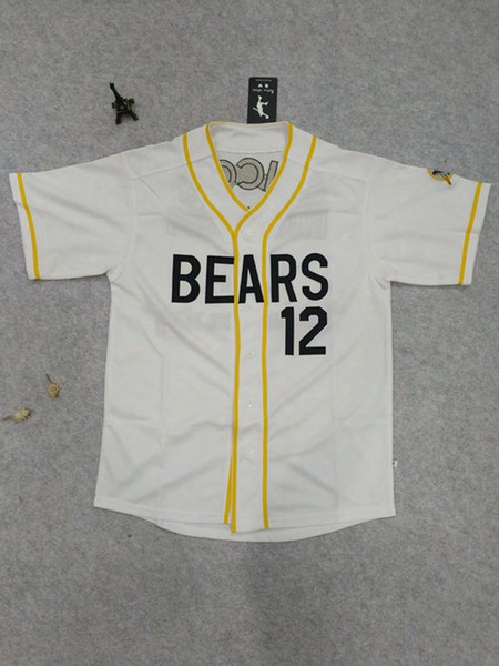 Bad News Bears #12 Tanner Boyle #3 Kelly Leak Baseball Jersey Stithed Sewn Numbers S, M, L, Xl,xxl, Xxxl
