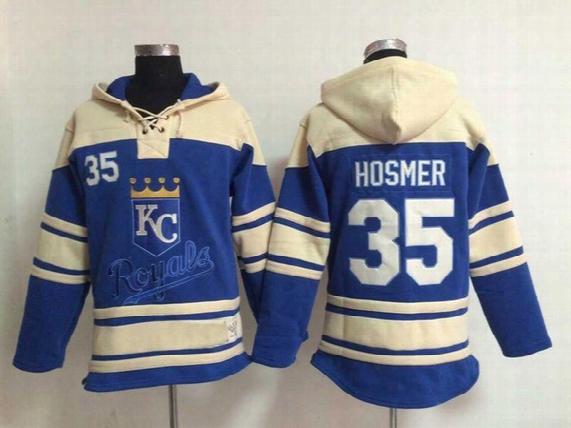 Baseball Jersey Hoodie Kansas Royals 4 Alex Gordon #6 Lorenzo Cain #8 Mike Moustakas #35 Eric Hosmer #13 Salvador Perez Name Number Stitched