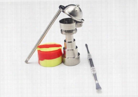 Bong Toool Set Universal 6 In 1 Titanium Nail With Baseball Hat Carb Cap 10mm 14mm 18mm Adjustable Male Or Female Honey Bucket