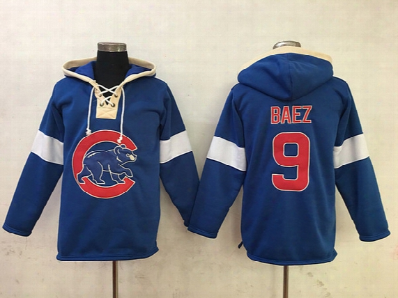 Chicago Cubs Baseball Hoodie #3 David Ross #9 Javier Baez #12 Kyle Schwarber #13 Starlin Castro #44 Rizzo Baseball Jerseys