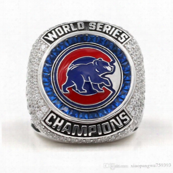 Chicago Cubs Baseball World Series Championship Ring Size 8 - 14 2016