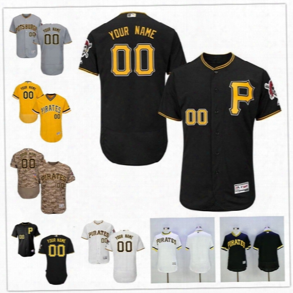 Custom Flex Base Pittsburgh Pirates 22 Mccutchen Cervelli Harrison Polanco Gray White Black Gold Stitched Any Name Number Mens Jerseys S-4xl