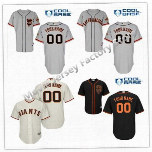Custom Sf/san Francisco Giants Gray Cream Orange Black White Authentic Collection Cool Personalized Baseball Jerseys Top Quality Customized