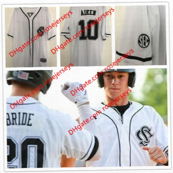 Custom South Carolina Gamecocks College Baseball White 5 Merrifield Pearce Justin Smoak 19 Bradley Jr.  Stitched Any Name Number Jersey S-4xl