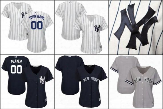 Custom Women New York Yankees Jerseys Personalized Name Number Logo Ladies Customized Baseball Jerseys Size S-xl