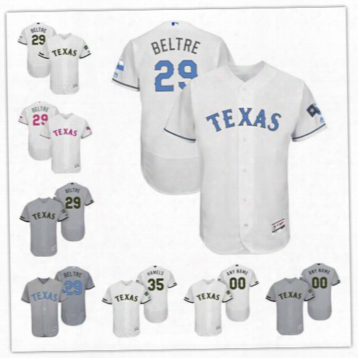 Customized Texas Rangers 29 Adrian Beltre White Gray 2017 Father Mother Memorial Day Sewn On Any Name Number Mens Flex Base Jerseys S-4xl