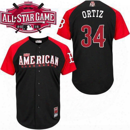 Factory Outlet 2015 All Star Baseball Jerseys Boston Red Sox 34 David Ortiz Jerseys Authentic American League Embroidery Stitched Team Logo