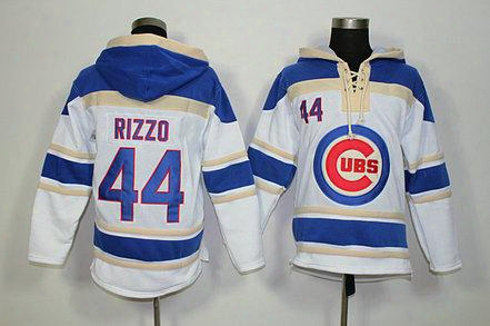 Factory Outlet, Baseball Hoodie 2015 New Chicago Cubs #44 Anthony Rizzo White Baseball Hockey Hoodie