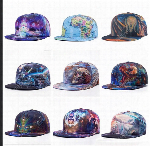 Fashion 3d Printing Caps Buddha Pattern Sports Hats Baseball Cap Women Me Baseball Caps Fitted Snapacks Caps Fashion Hip Hop Hats E