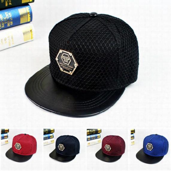 Fashion New Qp Pattern Baseball Cap Hat Bones Gorras Snapbacks Net Hats Personality Couple Hip Hop Mesh Sunscreen Caps For Men Women