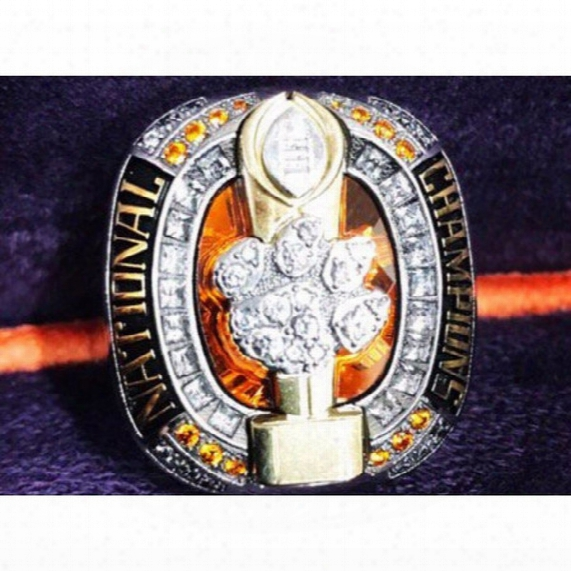 Free Shipping 2016 Clemson National Tigersc Hampionship Ring Solid Souvenir Sport Fan Men Gift Baseball Wholesale Factory Price Club Jewelry