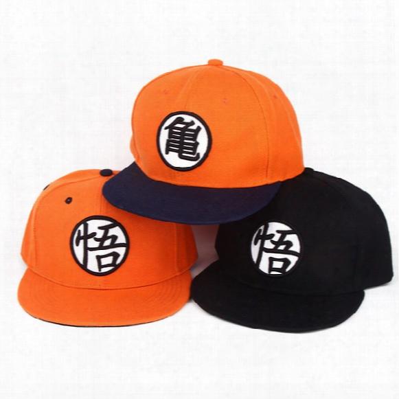 High Quality Anime Dragon Ball Z /dragonball Goku Baseball Cap For Men Women Adjustable Hip-hop Snapback Hat 3 Colors 2016 Hot!
