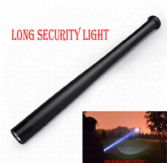High Quality Long Security Light 1800 Lumen Baseball Bat Shape Q5 Led 18650 Flashlight Torch 3 Mode Self-defense Flshlight