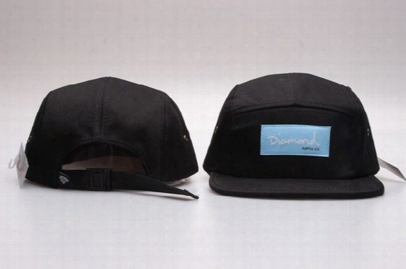 Hot Diamond 5 Panel Hats Blank , Classic Flower Men's Snapback, Women Adjustable Baseball Caps , Embroidery Fitted Flat Hats