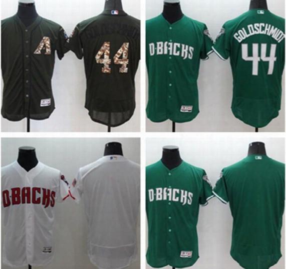 Hot Sale Arizona Diamondbacks Dbacks # 44 Goldschmidt Blue Army Green Pale Grey Black Baseball Jerseys