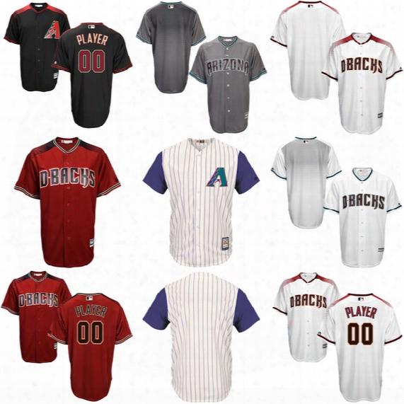 Hot Sale! Men's Arizona Diamondbacks Majestic Cool Base Jerseys Stitched Name And Number Size S-4xl