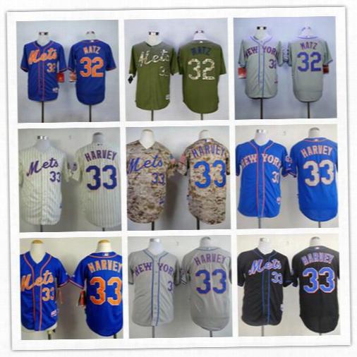 Hot Sale! New York Mets Men's 32 Steven Matz 33 Matt Harvey Mlb Baseball Jersey White/blue/grey/ Sport Jerseys Stitched Logo