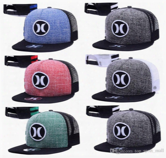 Hurley Cap Summer Street Snapback Hats Fashion Men Woman Hip Hop Casquette Baseball Sport Panel Popular More Colors Ball Gorras Mix Order