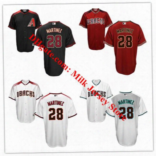 J.d. Martinez Diamondbacks Jersey #28 Arizona Diamondbacks Baseball Jerseys Black Red White Grey