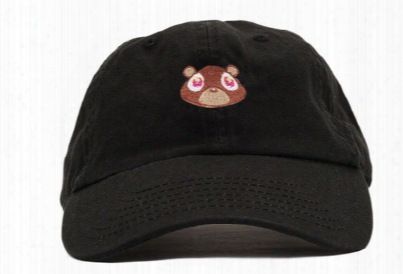 Kanye West Graduation College Dropout Bear Dad Hat Cap White Tan Pink Black 6 Panel Polos Snapback Hats Rare Baseball Caps