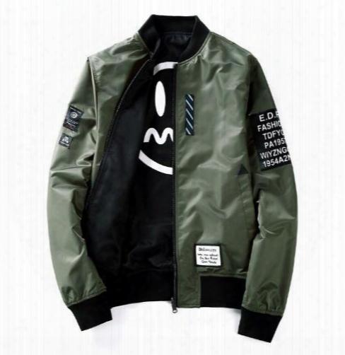 Ma1 Bomber Jacket New Japan Style Reversible Men's Jacket Baseball Collar Plus Size Slim Fit Windbreaker Kanye West Off White Coat