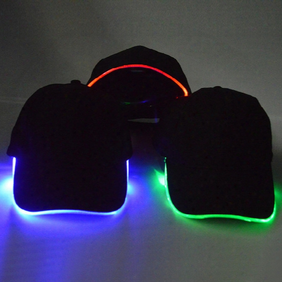 Manufacturers Sell Light Emitting Duck Tongue Caps, Led Baseball Caps, Fiber Caps, Stage Performances, Luminous Hats, Cap Hats