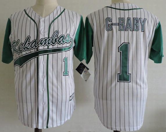 Men\'s Stitched The Hardball Film Kekambas Baseball Jerseys #1 Jarius G-baby Evans Jersey Includes Archa Duffys Patch S-3xl
