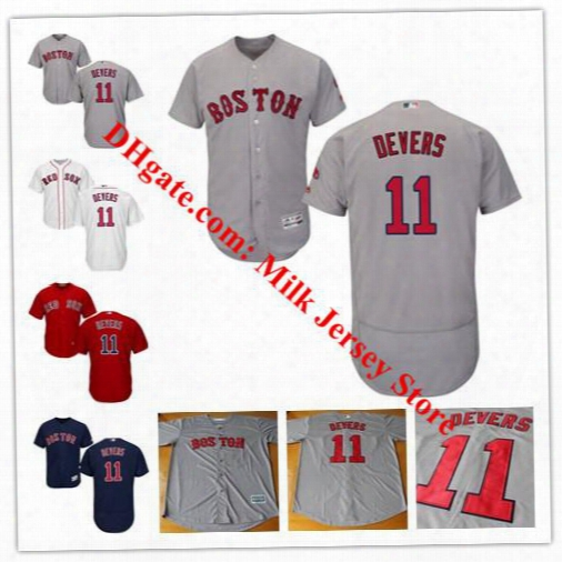 Men's Women Youth #11 Rafael Devers Jersey Boston Red Sox Baseball Jerseys Navy White Grey Red Black Cool Base