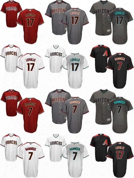 Men's Women's Kid's/youth Arizona Diamondbacks 17 Torey Lovullo 7 Robby Hammock Hot Sale Black Brick Gray White Baseball Jerseys,suit S-xxxl