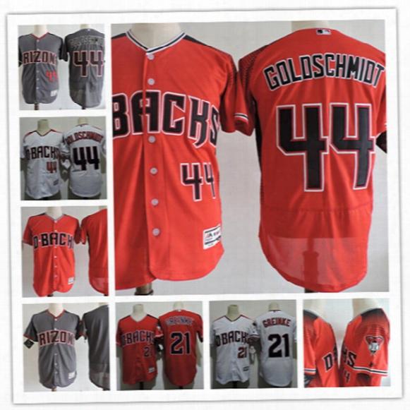 Mens Arizona Diamondbacks Paul Goldschmidt 2017 Flex Base Baseball Jerseys Stitched #21 Zack Greinke Diamondbacks Cool Base Jersey S-3xl
