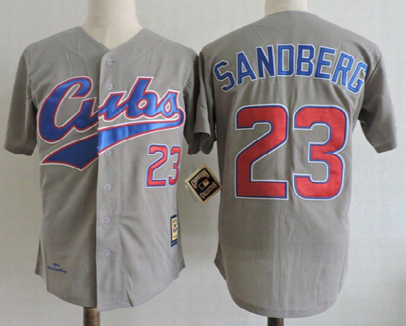 Mens Chicago Cubs 1984 Ryne Sandberg Throwback Royal Pullover Jerseys Stitched #23 Ryne Sandberg Hicago Cubs 1990 Baseball Jersey S-3xl