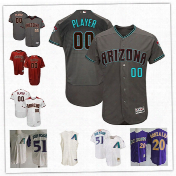 Mens Custom Arizona Diamondbacks Throwback Cooperstown Jersey Stitched Arizona Diamondbacks 2017 Flex Base Personal Baseball Jerseys S-3xl