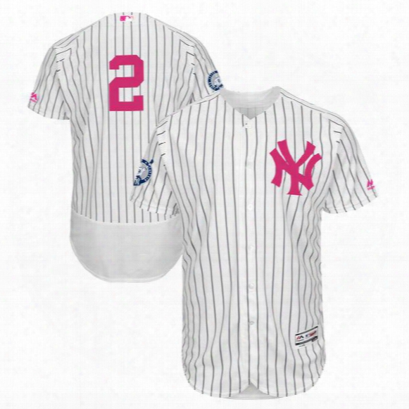 Mens New York Yankees #24 Gary Sanchez #2 Derek Jeter Retirement Mother's Day Flex Base Jersey