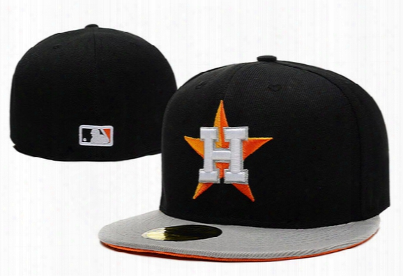 Mens Womens Full Closed Astros Fitted Hats Baseball Team Astros Baseball Cap Size Fit Sport Team Casquette Fast Shipping