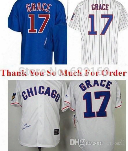 Mens Womens Youth 2017 Gold Chicago Cubs Mark Grace Mother Memorial Throwback Flex Cool Baseball Jerseys Grey Pink White Pinstripe Navy Blue
