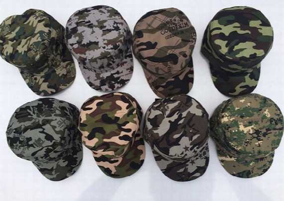New Arrival Camouflage Baseball Caps Men Women Casual Spring Summer Sun Hats Flat Caps Casquette Adjustable Gifts 8 Color B872