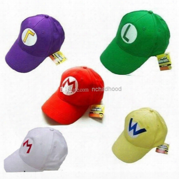 New Arrival Super Mario Baseball Hat Cap Cosplay Hat Super Mario Hat Super Mario Cap