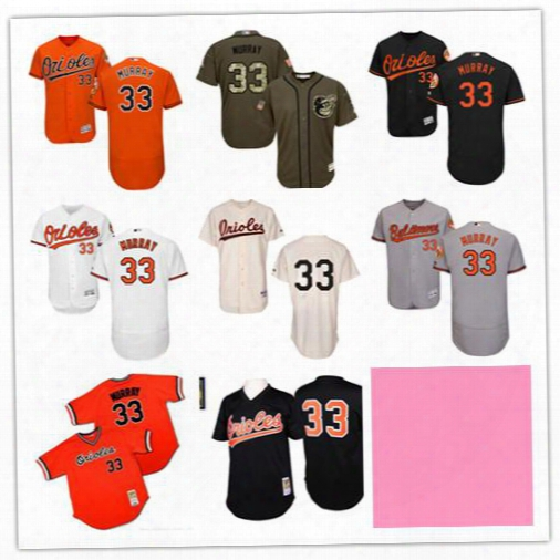 New Baltimore Orioles Jersey Black Cream Throwback #33 Eddie Murray #8 Cal Ripken #13 Manny Machado 10 Adam Jones Baseball Jerseys Mix Order