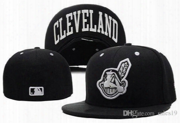 New Cleveland Indians Baseball Caps Front Logo Alternate Fitted Hat Wicks Away Sweat Adult Sport Fit Cap