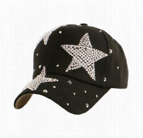 New Fashion Beauty Cute Children Snapback Caps Wholesale Pretty Design Rhinestone Star Child Kids Boys Girs Baseball Cap Hats