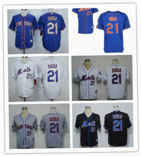 New York Ny Mets Jerseys #21 Lucas Duda White Jersey Wholesale Cheap Baseball Jerseys Shirts 34 Noah Snydergaard 52 Yoenis Cespedes