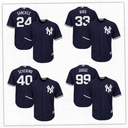 New York Yankees Jerseys Stitched Mens White Home Gray Navy Blue #24 Gary Sanchez 33 Greg Bird 40 Luis Severino 99 Aaron Judge