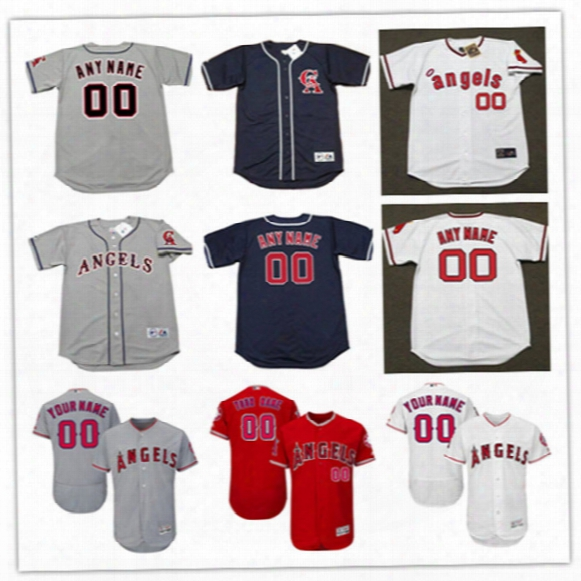 Newest-mens Custom Los Angeles Angels Of Anaheim Flex Base Baseball Jersey Stitched California Angels Throwback Personal Cool Base Jerseys