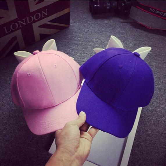 Oversized Bow Solid Color Baseball Hat Korean Female Tide Sweet Elastic Cap