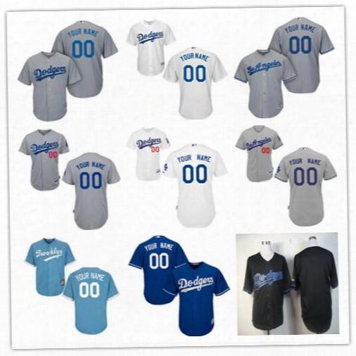 Personalized Cool Base Los Angeles Dodgers Custom Mens Womens Youth Baseball Jerseys Home White Brooklyn Light Blue Royal Gray Black S,4xl