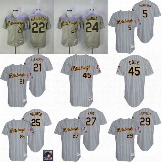 Pittsburgh Pirates 1997 Throwback Jerseys 26 Adam Frazier 22 Andrew Mccutchen 24 Eric Fryer 50 Jameson Taillon 55 Josh Bell Jersey
